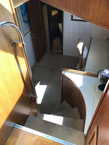 Spiral Staircase To Library And Forward Staterooms